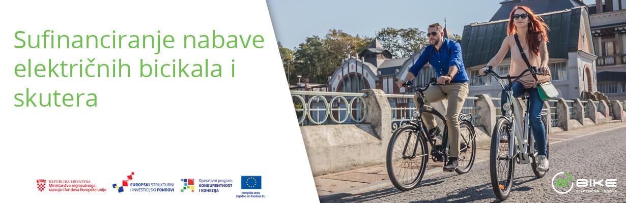 Sufinanciranje nabave električnih bicikala | Sufinanciranje nabave energetski učinkovitijih vozila